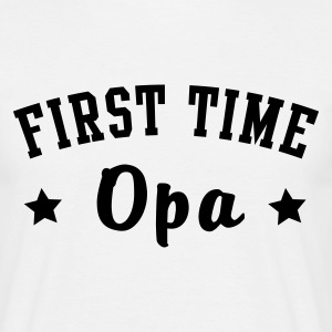 FIRST TIME Opa T-Shirt Khaki - Mannen T-shirt
