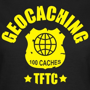 Chocolate geocaching award 100, 1 color - front T-Shirts - Women's T-Shirt