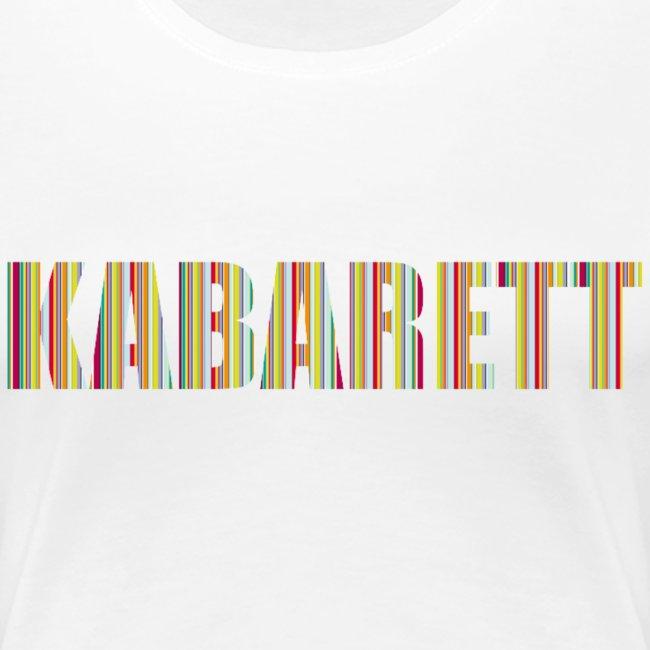 Kabarett Damen T-Shirt Streifen