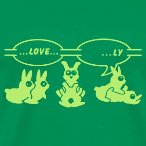 Forestgrøn  love ... ly (1c) T-shirts - Herre premium T-shirt