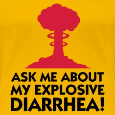 Light pink Explosive Diarrhea 1 (2c) Women's T-Shirts