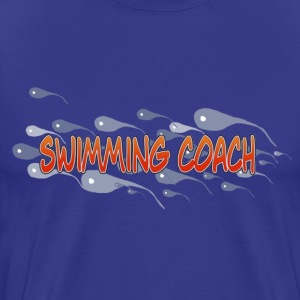 SWIMMING COACH - Mannen Premium T-shirt