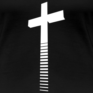 Cross / Kreuz / Croix / Cruz / Croce / Kruis, Girlie-T-Shirt - Women's Premium T-Shirt