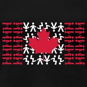 Canadian Skydiving Flag - Women's Premium T-Shirt