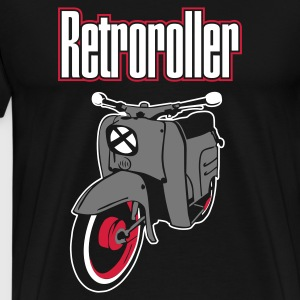 Sort retroroller T-shirts - Herre premium T-shirt