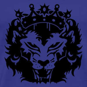 blue The lion's head with crown Men's T-Shirts - Men's Premium T-Shirt