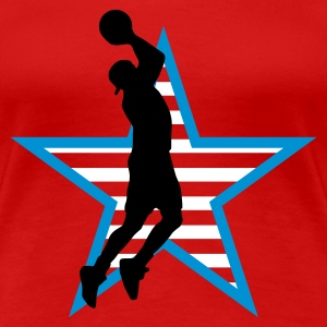 basketball_star_f_3c T-shirts - Vrouwen Premium T-shirt
