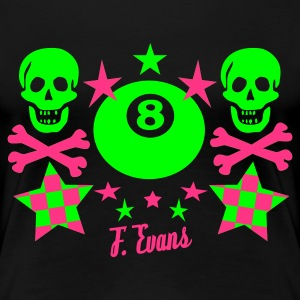 Hill Billy Rock, 8 ball, eight ball, stars, Sterne, Skulls, Bones, Knochen, Punk, Emo, Rock, Pop, Disco, Dance, Geschenke - eushirt.com - T-shirt Premium Femme