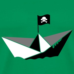 A paper boat with a pirate flag T-Shirts - Men's Premium T-Shirt