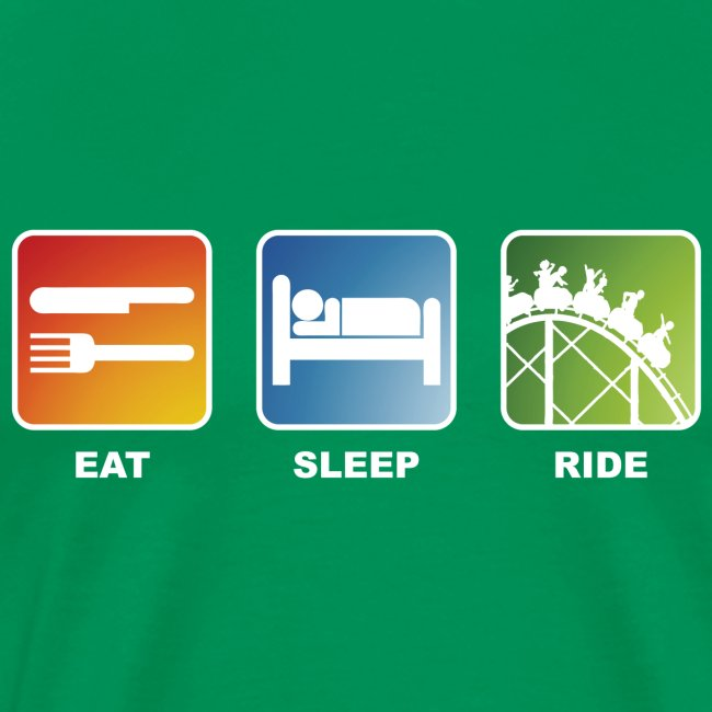 Eat, Sleep, Ride! - T-Shirt Khaki Grün