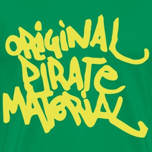Original Pirate Material Logo T-Shirts - Men's Premium T-Shirt