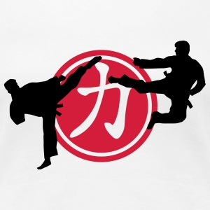 chinese_sign_strength_karate_a_2c T-shirts - Dame premium T-shirt