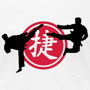 chinese_sign_victory_karate_a_2c T-shirts - Dame premium T-shirt