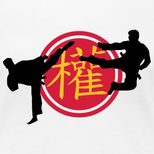 chinese_sign_power_karate_a_3c T-shirts - Dame premium T-shirt