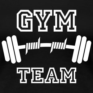 GYM TEAM | Fitness | Body Building | Hantel | Dumbbell T-Shirts - Dame premium T-shirt
