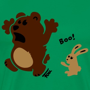 bear & bunny - colored T-Shirts - Men's Premium T-Shirt