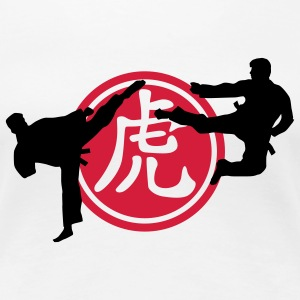 chinese_sign_tiger_karate_a_2c Camisetas - Camiseta premium mujer