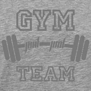 GYM TEAM | Fitness | Body Building | Hantel | Dumbbell T-Shirts - Koszulka męska Premium