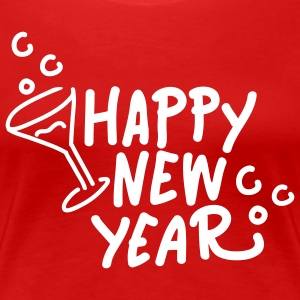 happy new year 1 T-Shirts - Frauen Premium T-Shirt