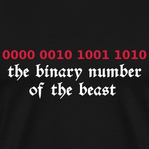 Sort 666 - satan - devil - the binary number of the beast T-shirts - Herre premium T-shirt