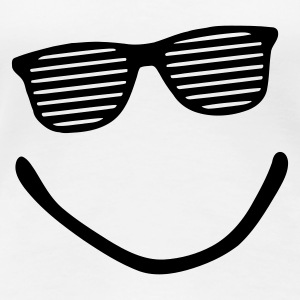 Weiß Big Smile - Smiley - Sonnenbrille - sunglasses - shutter shade T-Shirts - Frauen Premium T-Shirt