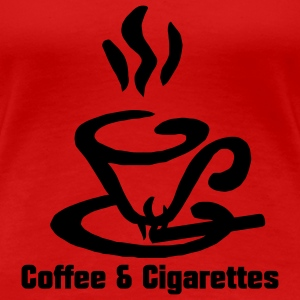 Coffee and Cigarettes - Frauen Premium T-Shirt