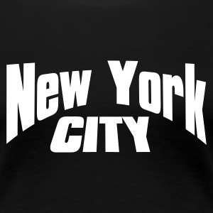 Negro new york city Camisetas - Camiseta premium mujer