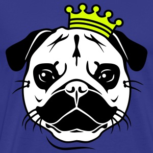 King Mopsi | König Mops | Hund | Dog | Royal T-Shirts - Men's Premium T-Shirt
