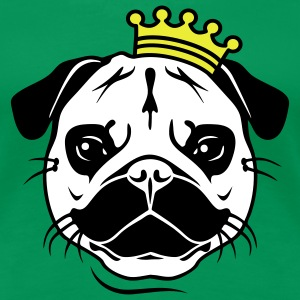 King Mopsi | König Mops | Hund | Dog | Royal T-Shirts - Premium T-skjorte for kvinner
