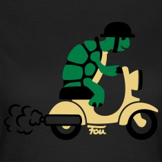 Turle Moped - colored T-Shirts