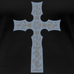 tribal_cross_a_2c Tee shirts - T-shirt Premium Femme