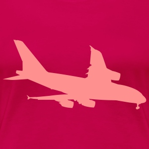 Airplane (Vector) - Women's Premium T-Shirt