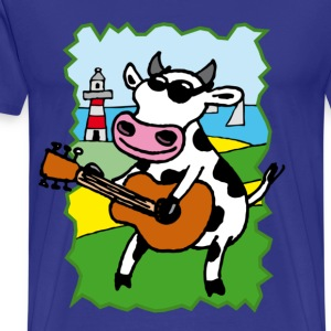cow_rock_c T-skjorter - Premium T-skjorte for menn