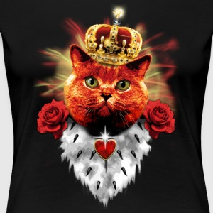 Red Roses Cat King - rote Katze mit Krone T-Shirts - Frauen Premium T-Shirt