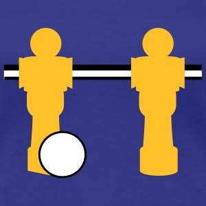 table football two players T-shirts - Vrouwen Premium T-shirt
