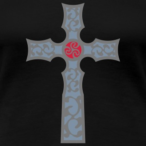 tribal_cross_a_3c T-shirts - Vrouwen Premium T-shirt