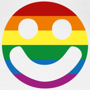 Rainbow Flag :) Smiley Face T-Shirt - Women's Premium T-Shirt