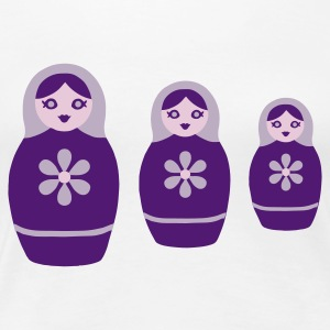 Three Russian Dolls - Russian Dolls Trio - Women's Premium T-Shirt