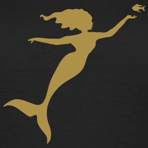 The mermaid plays with a fish T-Shirts - Women's T-Shirt