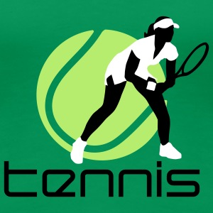 tennis_female_b_3c T-Shirts - Women's Premium T-Shirt