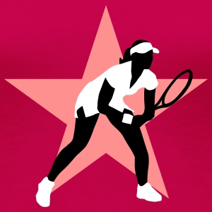 tennis_female_g_3c_star T-shirts - Dame premium T-shirt