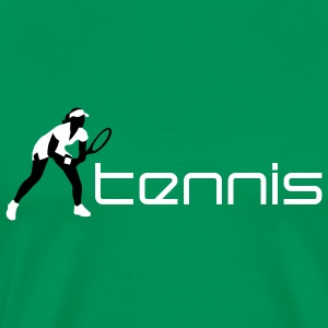 tennis_female_c_2c T-shirts - Mannen Premium T-shirt