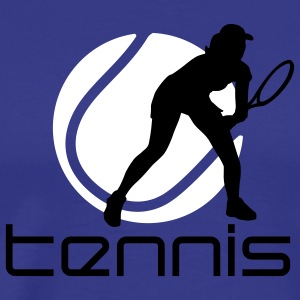tennis_female_b_2c T-shirts - Mannen Premium T-shirt