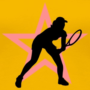 tennis_female_i_2c_star T-shirts - Premium-T-shirt dam