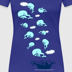 blue Where have the Whales Gone? Women's T-Shirts - Women's Premium T-Shirt