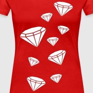 diamonds viele diamanten muster T-Shirts - Frauen Premium T-Shirt
