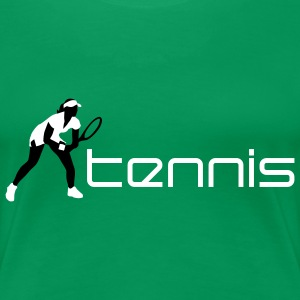 tennis_female_c_2c T-Shirts - Frauen Premium T-Shirt