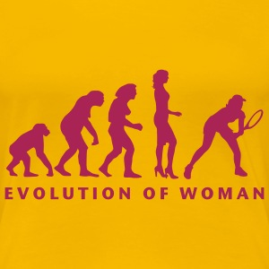 evolution_female_tennis_b_1c T-shirts - Premium-T-shirt dam
