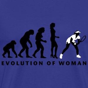 evolution_female_tennis_b_2c T-shirts - Premium-T-shirt herr