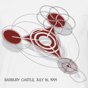Crop Circle T-Shirt Barbury Castle Red - Men's T-Shirt